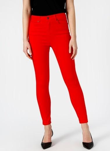 Vero Moda Vero Moda Skinny Kırmızı Denim Pantolon Kırmızı